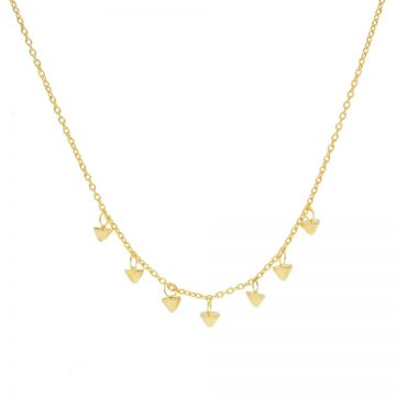 Necklace 7 Mini Cones Goldplated
