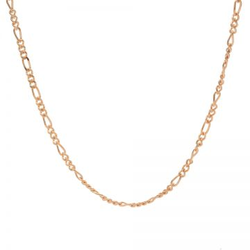 Necklace Figaro Roseplated