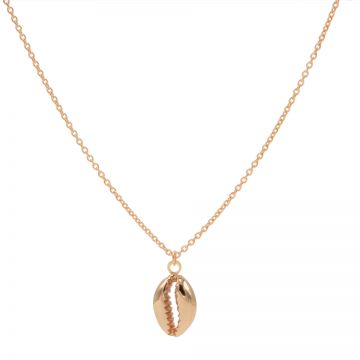 Necklace Shell 3 Roseplated 50-57CM