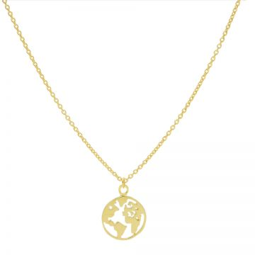 Necklace Earth Goldplated