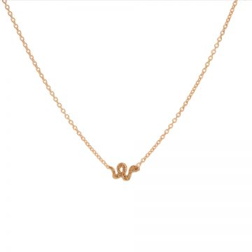 Necklace Little Snake Roseplated