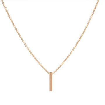 Necklace Tube Vertical Roseplated
