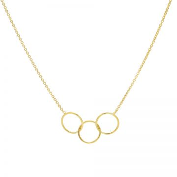 Necklace Triple Circle Goldplated