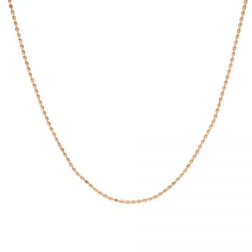 Necklace Tiny Dots Chain Roseplated