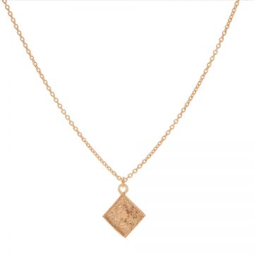 Necklace Square Coin Roseplated