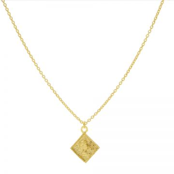 Necklace Square Coin Goldplated