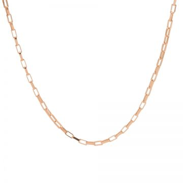 Necklace Square Chain Roseplated