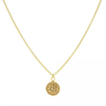 Necklace Sun Coin Goldplated 50-57CM