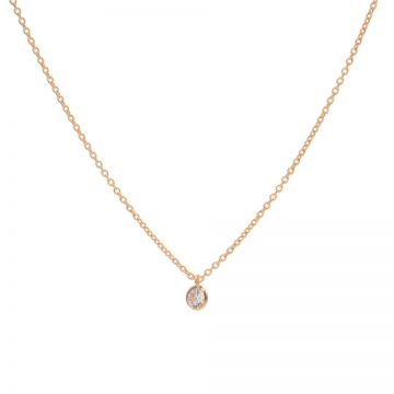 Necklace Zirconia Dot Roseplated