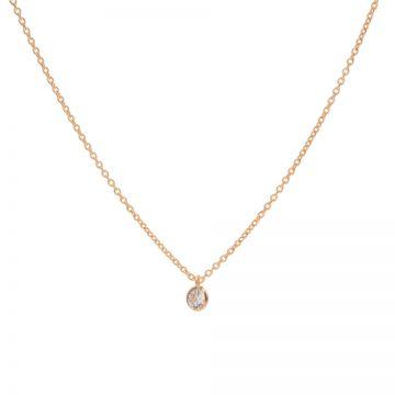 Necklace Zirconia Dot Roseplated