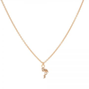 Necklace Flamingo Roseplated 50-57CM