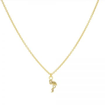 Necklace Flamingo Goldplated 50-57CM