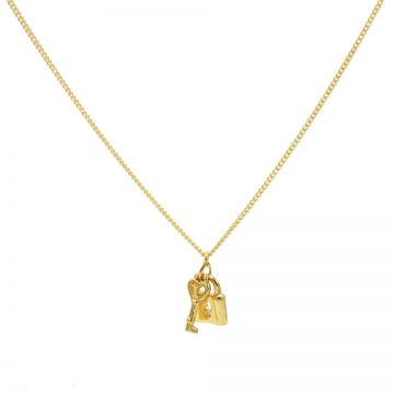 Necklace Key Lock Goldplated