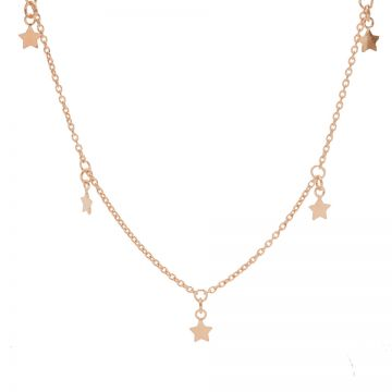 Necklace 5 Stars Roseplated