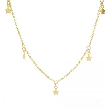 Necklace 5 Stars Goldplated