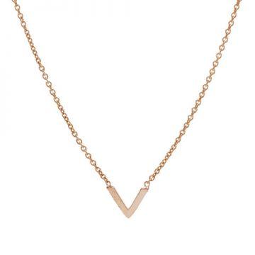 Necklace V Roseplated
