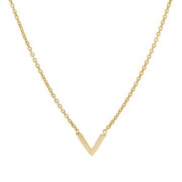Necklace V Goldplated