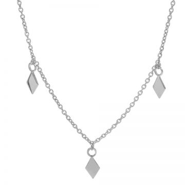Necklace 3 Diamonds Silver