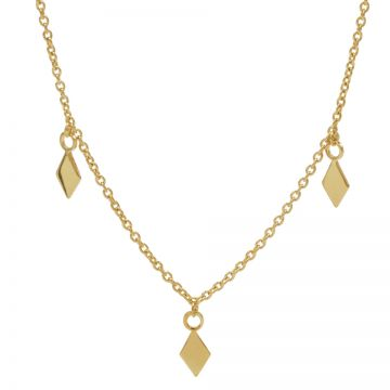 Necklace 3 Diamonds Goldplated