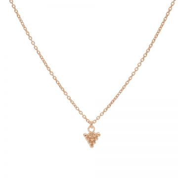 Necklace 10 Dots Triangle Roseplated