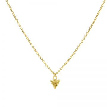 Necklace 10 Dots Triangle Goldplated