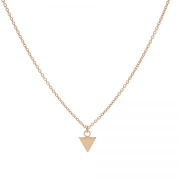 Necklace Triangle Roseplated