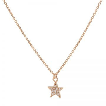 Necklace Zirconia Star Roseplated