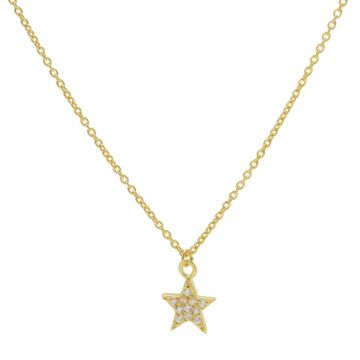 Necklace Zirconia Star Goldplated