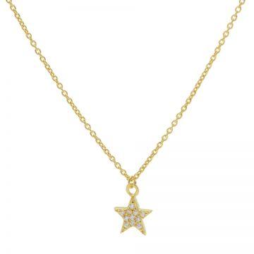 Necklace Zirconia Star Goldplated