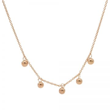 Necklace 5 Dots Roseplated