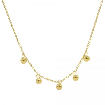 Necklace 5 Dots Goldplated