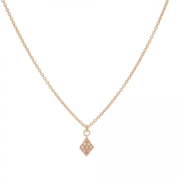 Necklace Zirconia Diamond Roseplated