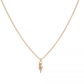 Necklace Zirconia Lightning Roseplated