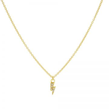 Necklace Zirconia Lightning Goldplated