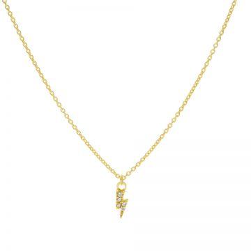 Necklace Zirconia Lightning Goldplated