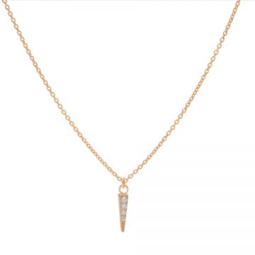 Necklace Zirconia Cone Roseplated