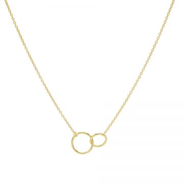 Necklace Double Circle Goldplated