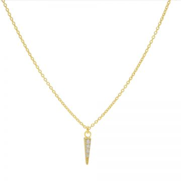 Necklace Zirconia Cone Goldplated