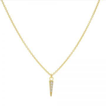 Necklace Zirconia Cone Goldplated