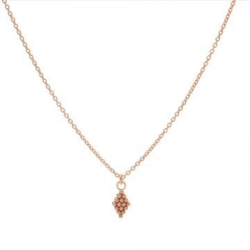 Necklace Dots Diamond Roseplated