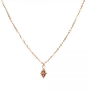 Necklace Dots Diamond Roseplated