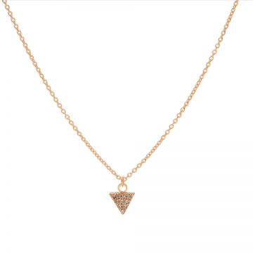 Necklace Zirconia Triangle Roseplated