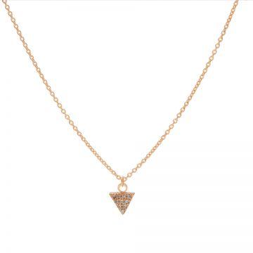 Necklace Zirconia Triangle Roseplated