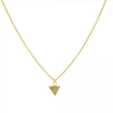 Necklace Zirconia Triangle Goldplated