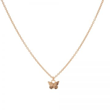 Necklace Butterfly Roseplated
