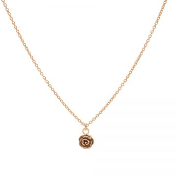 Necklace Flower Rose Roseplated