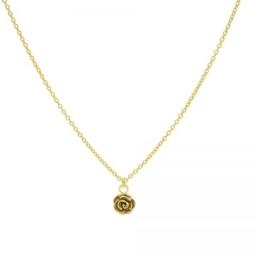 Necklace Flower Rose Goldplated