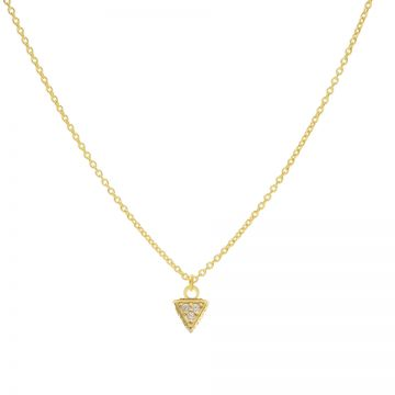 Necklace Zirconia Triple Dots Triangle Goldplated