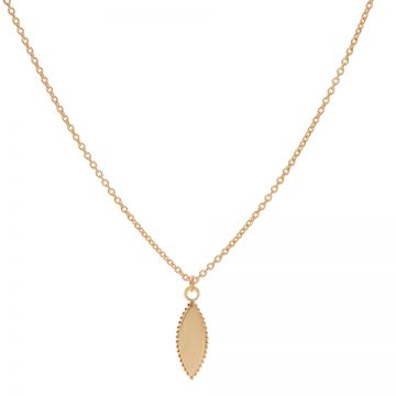 Necklace Pointy Dots Oval Roseplated