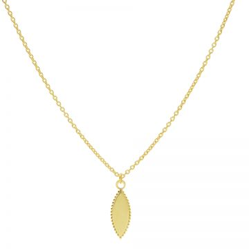Necklace Pointy Dots Oval Goldplated